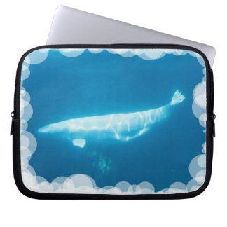 Swimming Beluga Whales Notebook Sleeve Laptop Sleeve