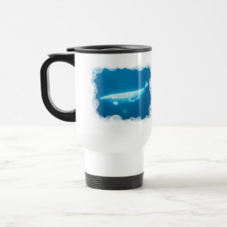 Swimming Beluga Whales Plastic Travel Mug