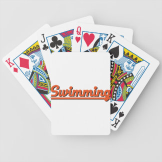 swimming bicycle playing cards
