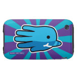 Hand shaped Swimming Blue Baby Narwhal Whale Tough iPhone 3 Case