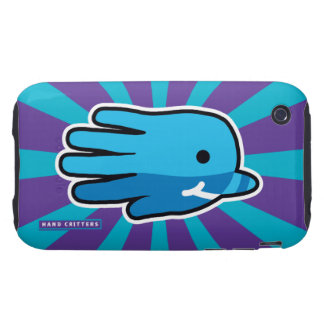 Swimming Blue Baby Narwhal Whale Tough iPhone 3 Case