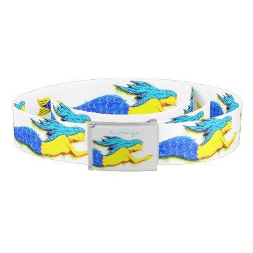 Beach Themed swimming blue-haired mermaids  Thunder_Cove Belt