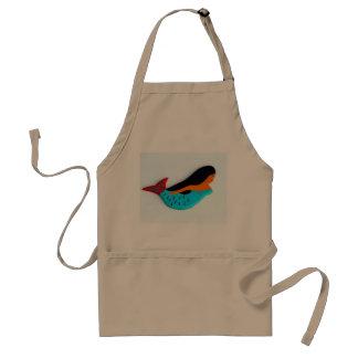swimming blue mermaid apron