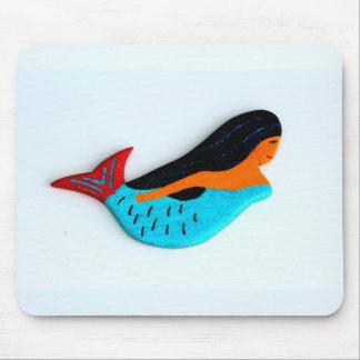 swimming blue mermaid mousepad