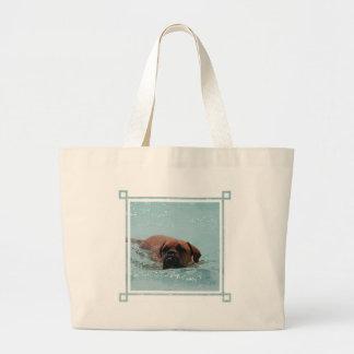 Swimming Bordeaux Canvas Bags