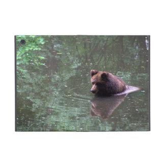 Swimming brown bear iPad mini covers