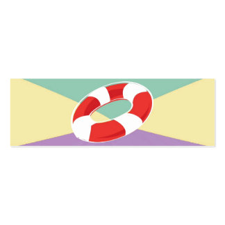 Swimming Buoys On Tri Color Background Double-Sided Mini Business Cards (Pack Of 20)