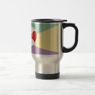 Swimming Buoys On Tri Color Background Coffee Mug