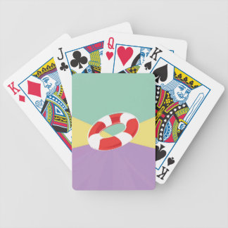Swimming Buoys On Tri Color Background Bicycle Poker Cards