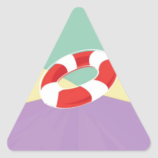 Swimming Buoys On Tri Color Background Triangle Sticker
