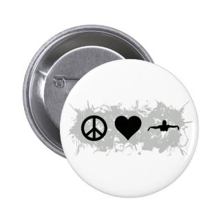 Swimming 2 Inch Round Button