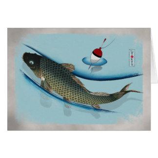 Swimming Carp Card
