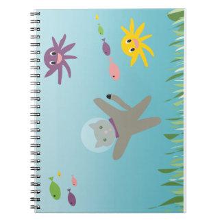Swimming Cat Notebooks