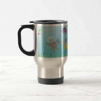Swimming Cat Travel Mug
