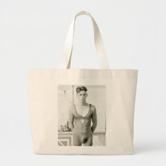 Swimming Champion, 1920s Jumbo Tote Bag