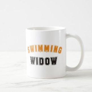 swimming classic white coffee mug