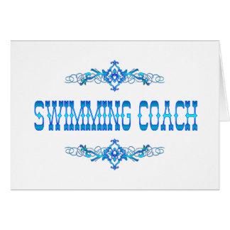 SWIMMING COACH CARD