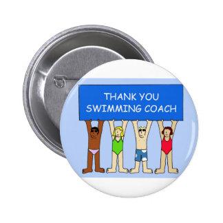 Swimming Coach Thanks 2 Inch Round Button