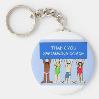 Swimming Coach Thanks Keychain