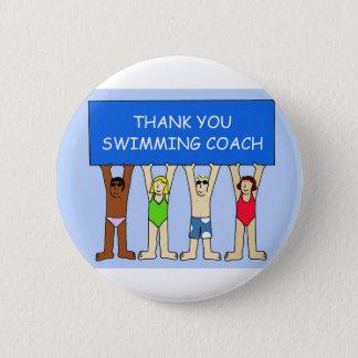 Swimming Coach Thanks Pinback Button