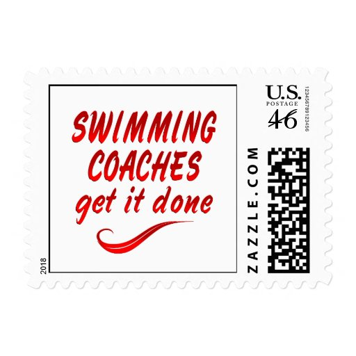 Swimming Coaches Get it Done Postage Stamps
