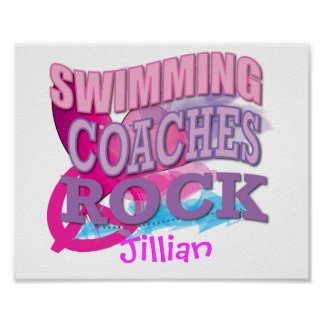 Swimming Coaches Gifts Poster