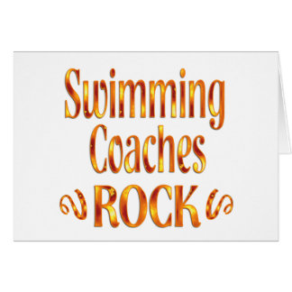 Swimming Coaches Rock Card