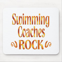 Swimming Coaches Rock Mouse Pad