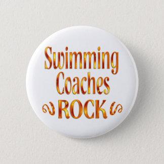 Swimming Coaches Rock Pinback Button