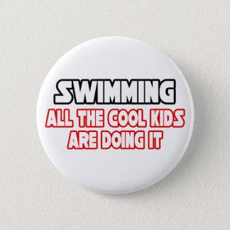 Swimming...Cool Kids Pinback Button
