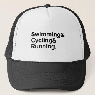 Swimming Cycling Running | 3 Legs of Triathlon Trucker Hat