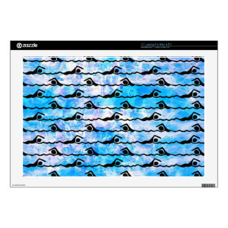 SWIMMING DECALS FOR LAPTOPS