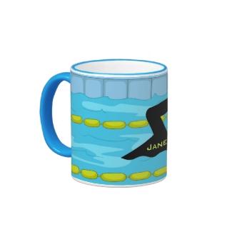Swimming Design Coffee Mug