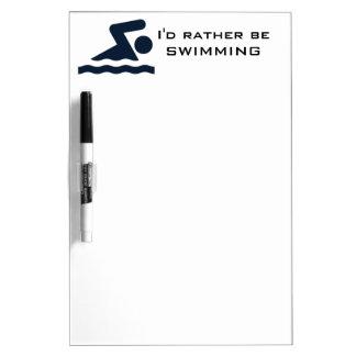 Swimming Design Dry Erase Board