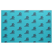Swimming Design Fabric