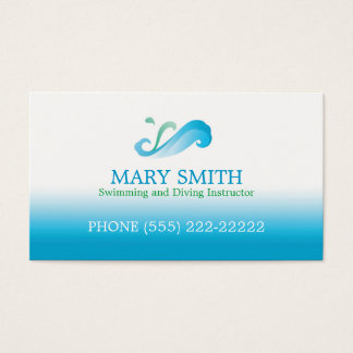 Swimming & Diving Instructor Business Card