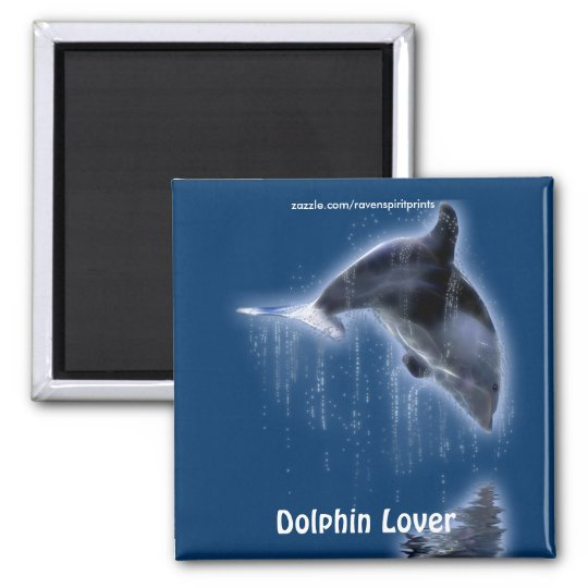 Swimming DOLPHIN Art Magnet