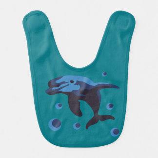 swimming dolphin bib