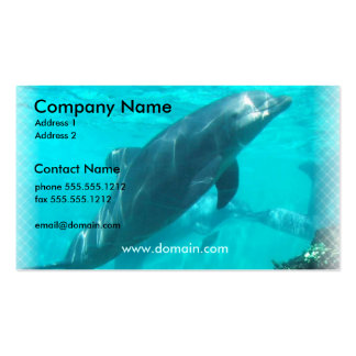 Swimming Dolphin Business Card