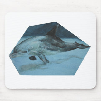 Swimming Dolphin Mouse Pad