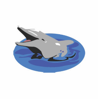Swimming Dolphin Statuette