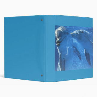 Swimming Dolphins 3 Ring Binder