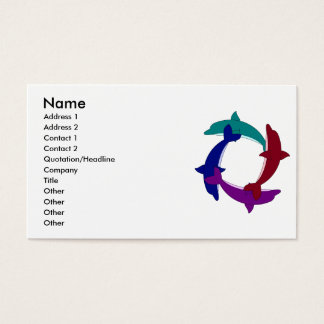 Swimming Dolphins Business Card