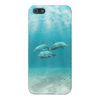 Swimming Dolphins Cover For iPhone SE/5/5s