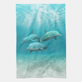 Swimming Dolphins Hand Towels