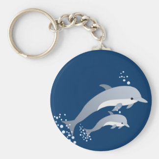 Swimming Dolphins Keychain