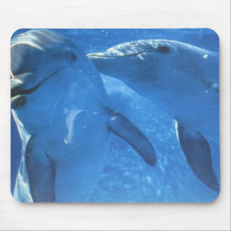 Swimming Dolphins Mouse Pad