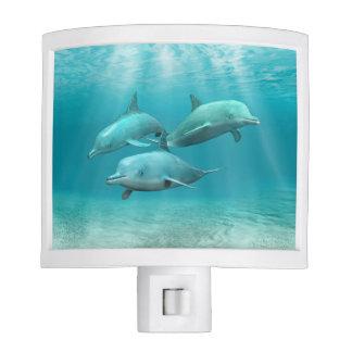 Swimming Dolphins Night Light