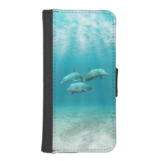 Swimming Dolphins Phone Wallets