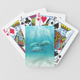 Swimming Dolphins Bicycle Card Deck